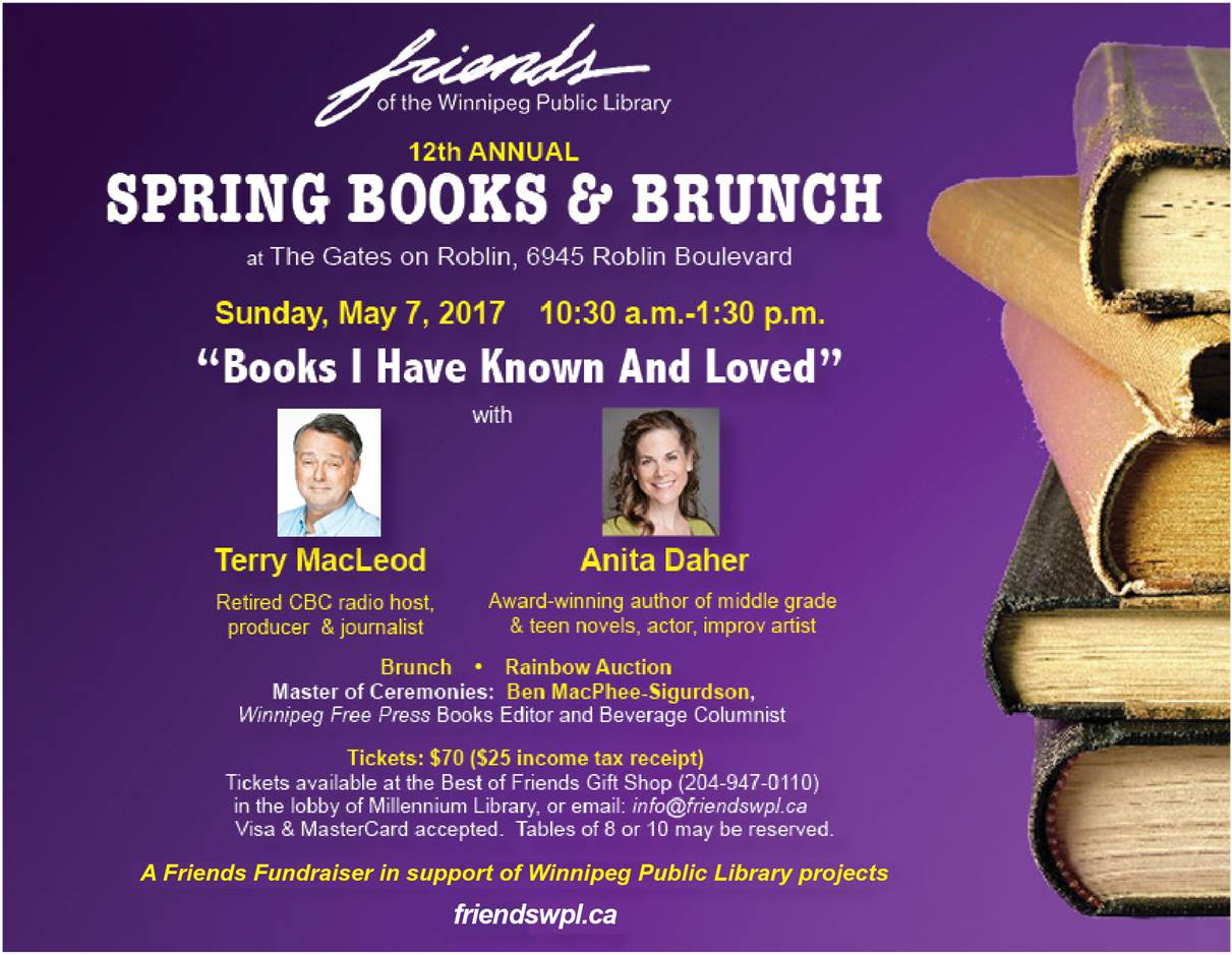 Books and brunch poster