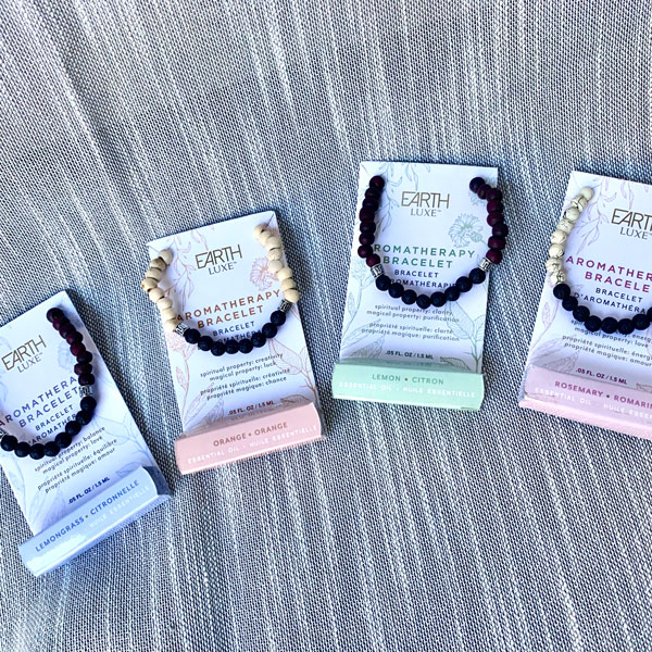 Aromatherapy bracelets available at the gift shop