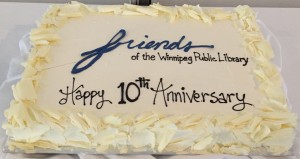 the cake from the 10th anniversary Books and Brunch