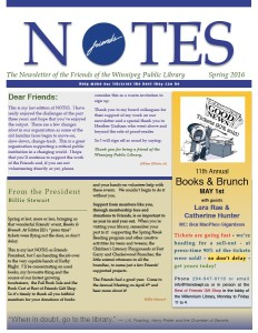 Notes Spring Issue 2016