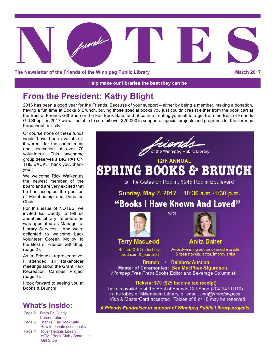 Image of Notes Newsletter March 2017